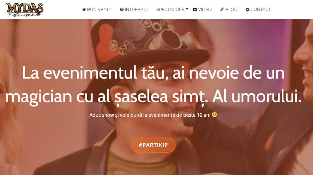 Portofoliu Web Design - Creare Site Web Iasi - Mydas.ro