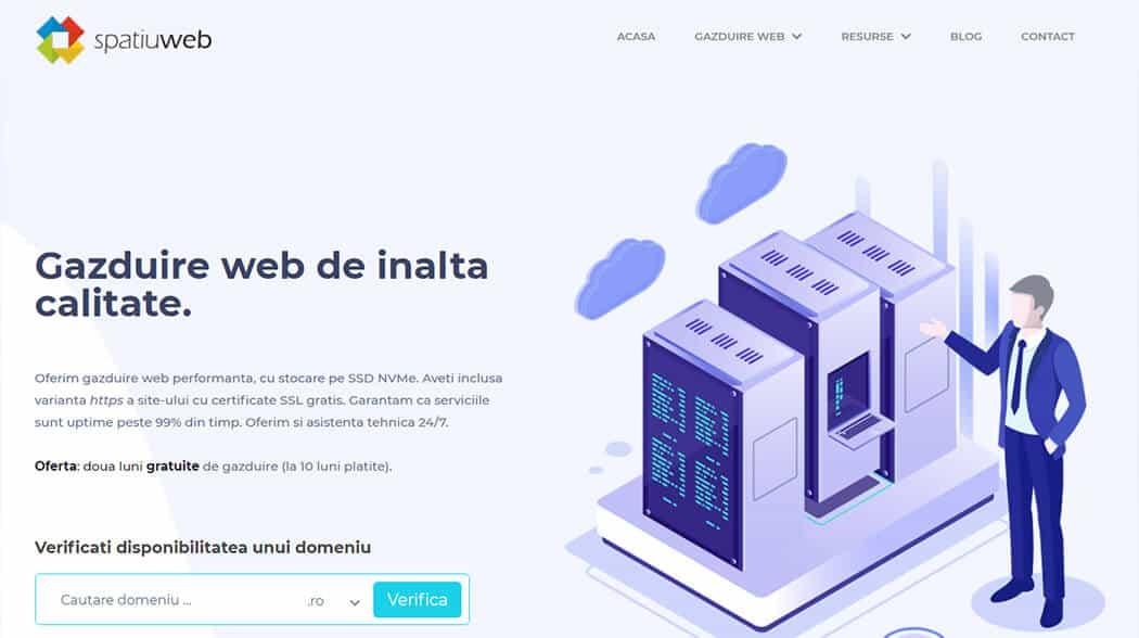 Portofoliu Web Design - Creare Site Web Iasi - SpatiuWeb.ro